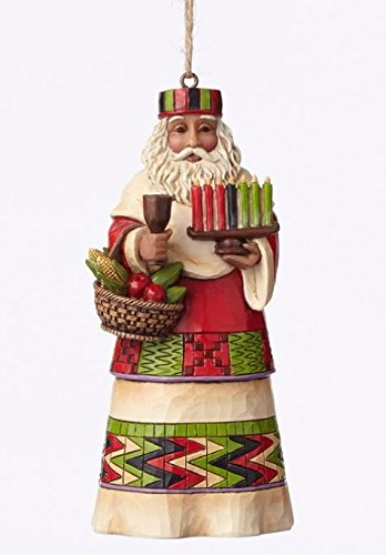 Jim Shore Heartwood Creek African Santa Stone Resin Hanging Ornament, 4.75