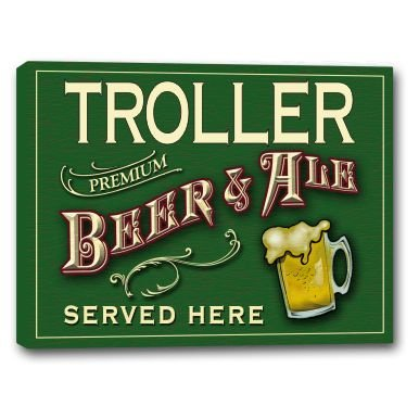 troller-beer-ale-stretched-canvas-sign-16-x-20