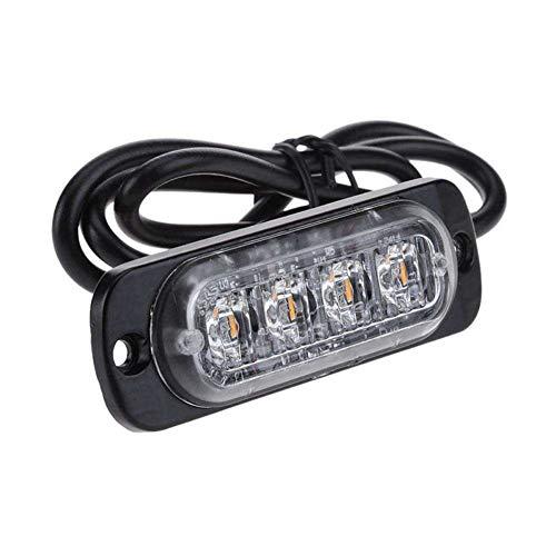 ROPALIA 12-24v Side Ultra-Thin 4LED Warning Light Strobe Light Car Truck Fault Emergency Light Beacon Light