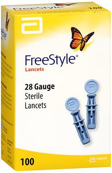 FreeStyle Sterile Lancets, 28 Gauge - 100 ct, Pack of 4