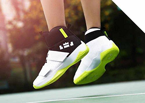Sneaker Da Uomo E Da Donna Sneakers Autunno Nuovi Ammortizzanti Traspiranti Scarpe Da Basket Alte Top Modelli Paio Bianco