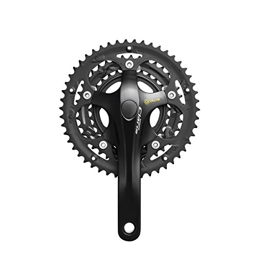SHIMANO Claris 8-Speed Road Bicycle Crank Set - FC-2403 (Black - 175 x 50X39X30T - w/o CG) ()