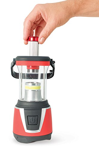 Ideaworks LED Camping Lantern, Emergency Red Light & Portable Flashlight - 300 Lumens Hiking (Freeplay Yellow Flashlight)