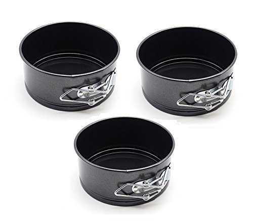 Astra shop Nonstick Bakeware Mini Springform Pans 4 by 2-Inch, Set of 3