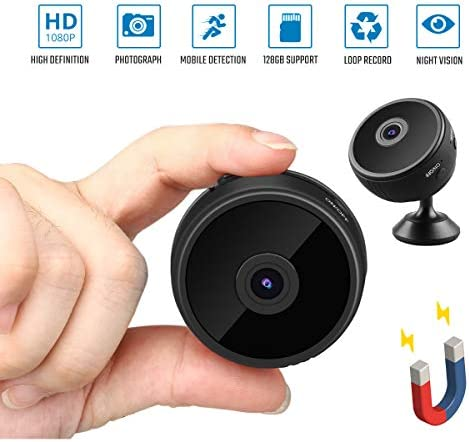 Sondiko Spy Camera Wireless Hidden WiFi Camera 2019 Upgraded WiFi HD 1080P Home Security Motion Detection Mini Camera with Night Vision Function, Motion Detection, Remote View and Stand Clip