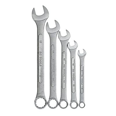 KC Professional GCMW5CX 5 Piece Combination Wrench Set