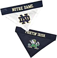 Pets First ND-3217-S-M NCAA Notre Dame Fighting Irish Reversible Bandana for Dogs & Pets, Small/Me