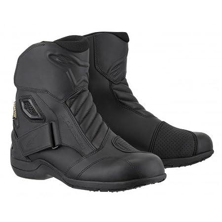 Black, EU Size 39 Alpinestars New Land Gore-Tex Mens Motorcycle Street Boots 3401-0172