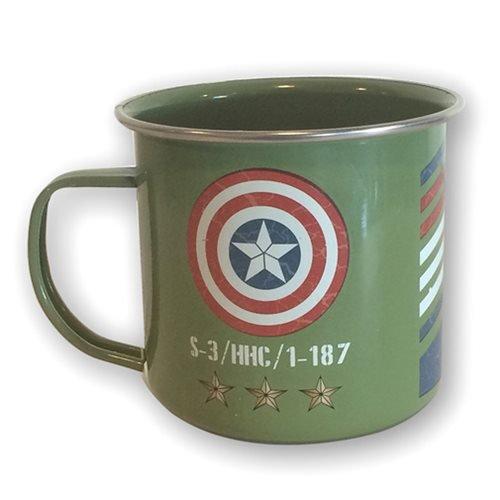 Captain America Vintage Army Enamel Mug Standard