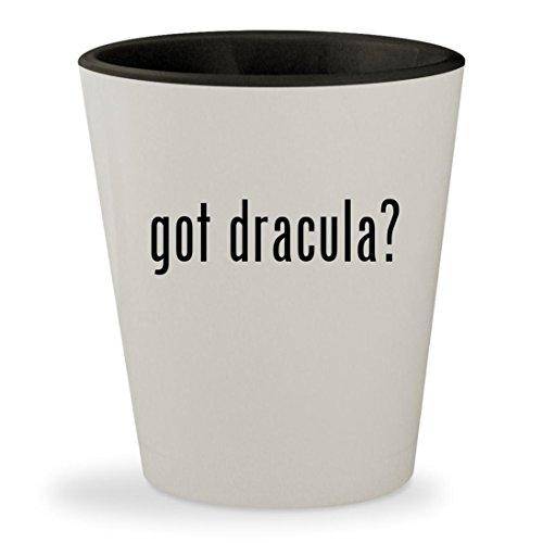 Gary Oldman Dracula Costume (got dracula? - White Outer & Black Inner Ceramic 1.5oz Shot Glass)
