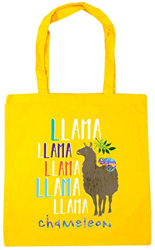 10 Chameleon Llama Llama HippoWarehouse 42cm Gym x38cm Llama Tote Shopping Yellow litres Llama Beach Bag Llama qFO4a