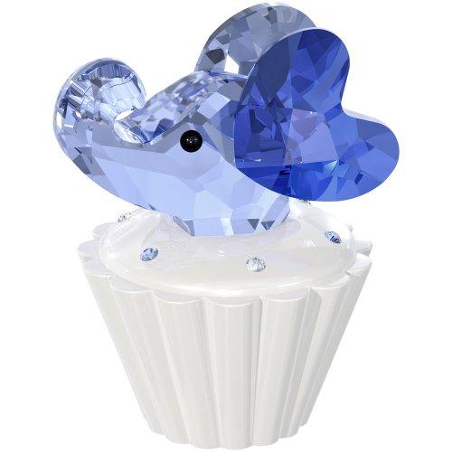 Swarovski Crystal Elephant - Swarovski Cupcake Box with Elephant Figurine