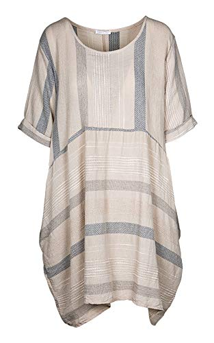 M Made in Italy - Women's Casual Boho Dress (Sand ()