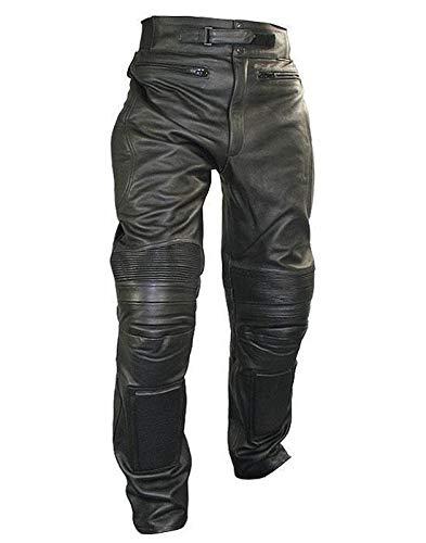 Xelement B7466 Men's Black Armored Cowhide Leather Racing Pants - 30