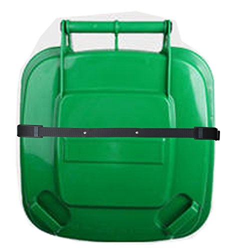 Bin Strap Garbage lock Trash Can Lid Strap Garbage Can Security System One Piece - No More Mess ! (Proof Trash Bear Can)