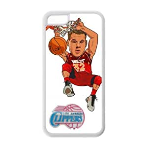 iPhone 5C TPU Fitted case with LA Clippers Blake Griffin Art Painting-by Allthingsbasketball