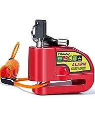 Tchipie Red Alarm Disc Lock 110dB Anti T...