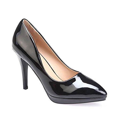 Negro Modeuse Mujer Material Vestir La Sintético De Zapatos 1Pq0wFg