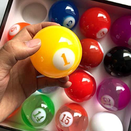 NO BRAND Internacional de Billar estándar Conjunto Completo de Resina de la Bola de Billar Juego de Billar estándar Internacional Transparente 57.25mm de Color Bola de Billar Billiard Ball: Amazon.es: Deportes y