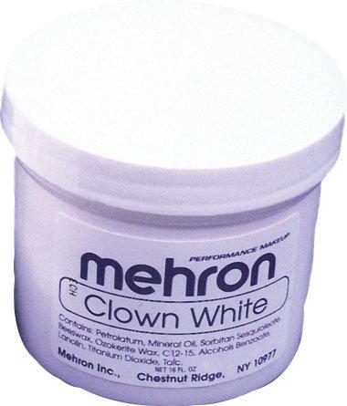 Clown Blanc Crème Costume Maquillage 16 Oz