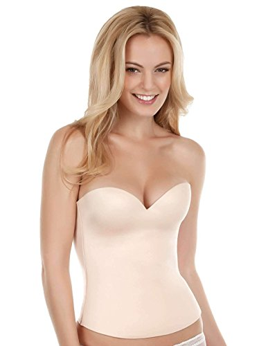 Felina Women's Essentials Seamless Hidden Wire Bustier, Bare, 42B