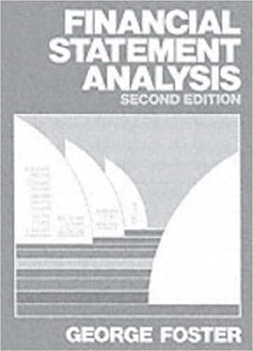 Financial Statement Analysis Nd Edition George Foster