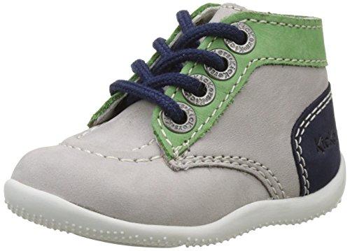 KickersBonbon - Zapatillas altas Bebé-Niñas Gris (Gris Vert Bleu)