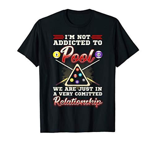 Mens Pool Player Shirt 8 Ball Billiards Shooting Pool Gift