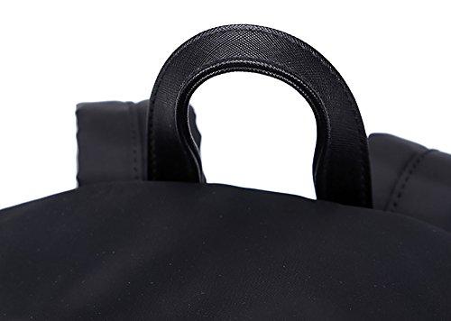 CLOTHES- Sacchetto di spalla femminile Zaino nero del panno del Oxford del grande selvaggio della personalità coreana di modo di modo