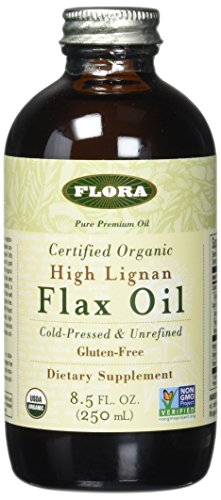 Flora High Lignan Flax Oil Certified Organic, 8.50-Ounce