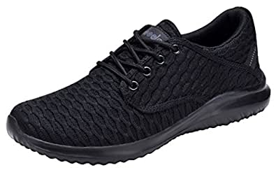 COODO Women's Athletic Shoes Casual Breathable Sneakers Black Size: 6