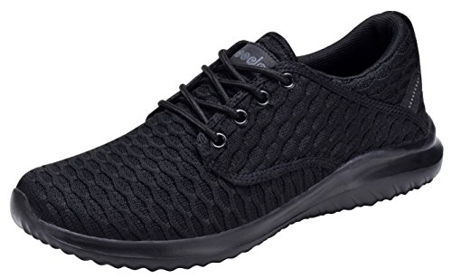 (COODO CD7003 Women's Athletic Shoes Casual Breathable Sneakers All Black-8)