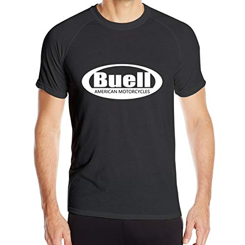 Breathable Custom Buell American Motorcycles Logo Quick Drying T-Shirt for Men O-Neck Black 3XL
