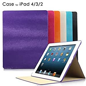 Mouse Lines PU Leather Case with Stand for iPad2/3/4 , Black