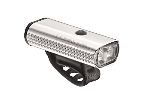 LEZYNE Power Drive 1100 Polish Bike Light, Silver Hi Gloss, One Size