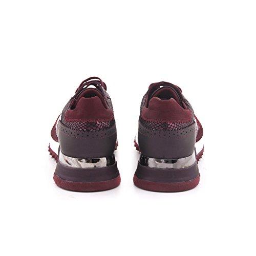Chaussures Hommes Mocassini Design En Cuir Véritable Sneaker Sport Athlétique Cuir Quotidien Vin Rouge