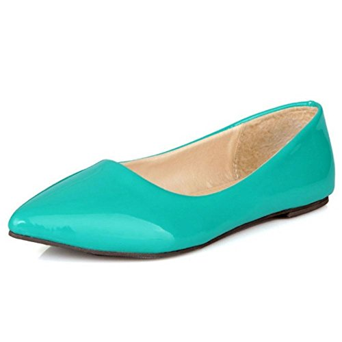 Sizes 0 Bombas Plano Zapatos 11 Verde Basic Extra Zanpa Trabajo Mujer qnUZ8wOx0X