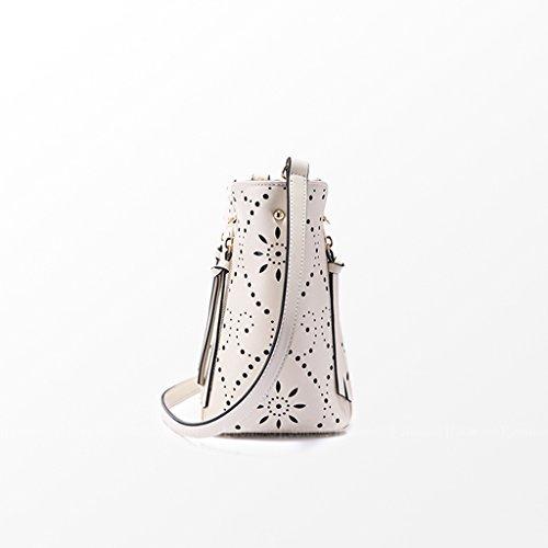 Ladies Sac simple sac à bandoulière creux sac à bandoulière sac à main Sac élégant motif creux décompression double ceinture