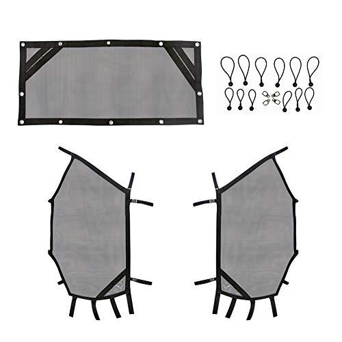 (Sukemichi UTV Window Net Roll Cage Mesh Guard Front and Rear Window Shield Net for a RZR 570 800 900)