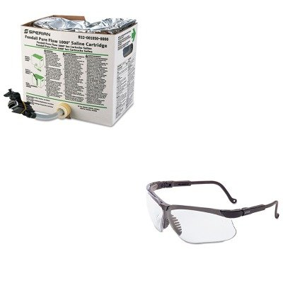 Fendall Saline - KITFND320010500000UVXS3200X - Value Kit - Honeywell Fendall Saline Cartridge Refill Set for Pure Flow 1000 (FND320010500000) and Uvex Genesis Safety Eyewear (UVXS3200X)
