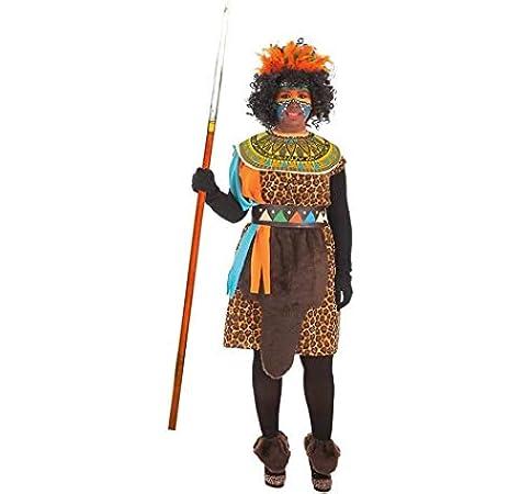 LLOPIS - Disfraz Adulto Africana: Amazon.es: Juguetes y juegos