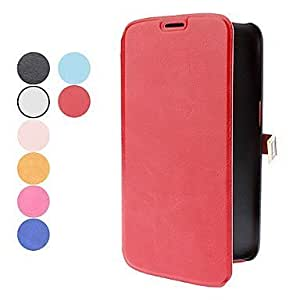 Quaroth Processing time 2 days-Fashion D Buckle PU Leather for Samsung Galaxy Mega 6.3 I9200 (Assorted Colors),Pink