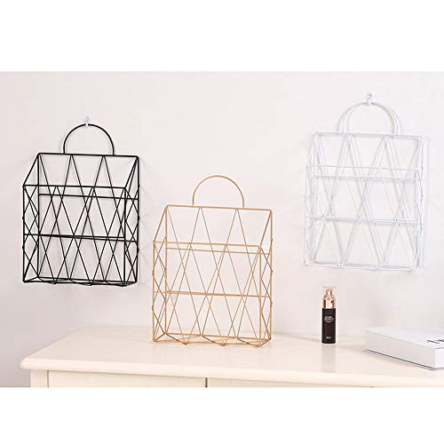 AIYoo File Holder Metal Organizer,Gold Wire Wall Bin Magazine Rack Holder,Storage Basket for Magazine,Books, Newspapers - Modern Office Home Supplies and Decorations. by AIYoo (Image #6)