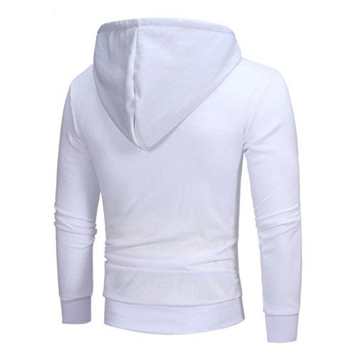 de Hombre para para Larga Sudadera Sudadera chaqueta Manga Outwear ropa otoño invierno hombre hombre Hombre Amlaiworld casual Blanco oferta 7TdTwqax