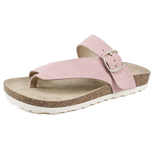(WHITE MOUNTAIN Shoes Carly Women's Sandal, Pink/Suede, 9 M)