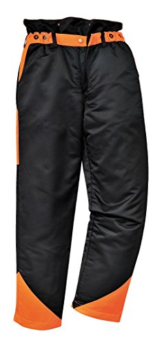 Portwest Workwear Mens Chainsaw Trousers Black Large