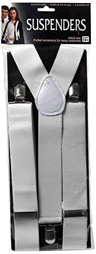 Forum Novelties Men's Adult Costume Suspenders, White, One