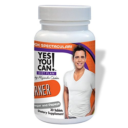 Yes You Can! Diet Plan Fat Burner Weight Loss Support with Apple Cider Vinegar, Spirulina and L Carnitine Quemador de Grasa para un Metabolismo Saludable y Bajar de Peso 30 Tablets