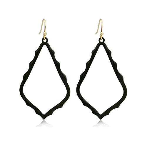 Lightweight Dangle Earrings Simple Earrings Black Teardrop Earrings for ()