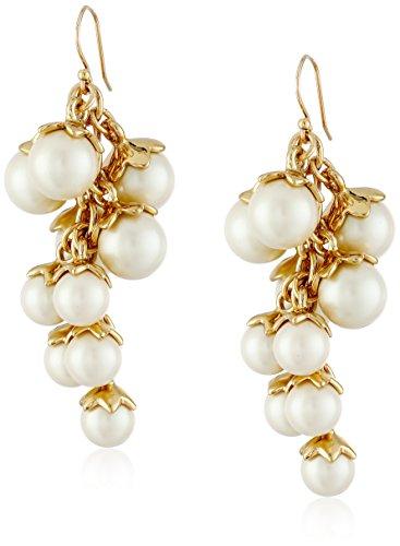 (kate spade new york Petaled Pearls Chandelier Drop Earrings)